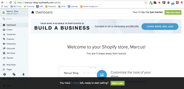 Screen Shot 2014 02 23 at 19.09.45 How to Build a Website using Wordpress, Wix or Shopify
