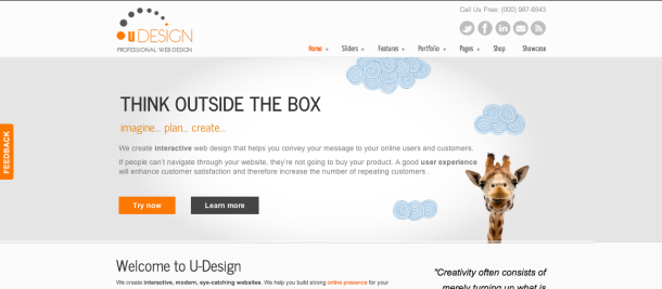 Udesign wordpress theme