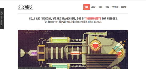 Bigbang wordpress theme
