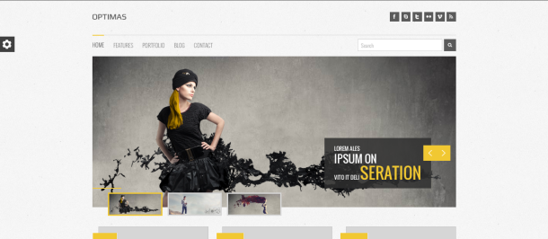 Optimas wordpress theme