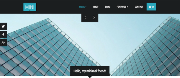 Mini wordpress theme