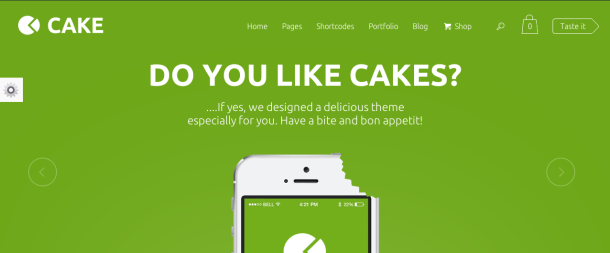Cake premium wordpress theme