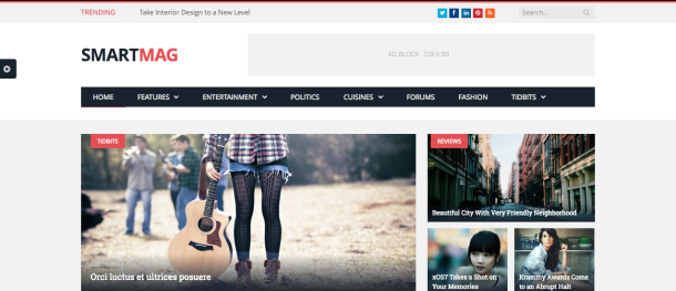 Smart mag premium wordpress theme