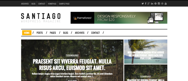 Santiago premium wordpress theme