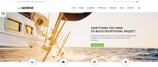 Sentinel WordPress paid theme