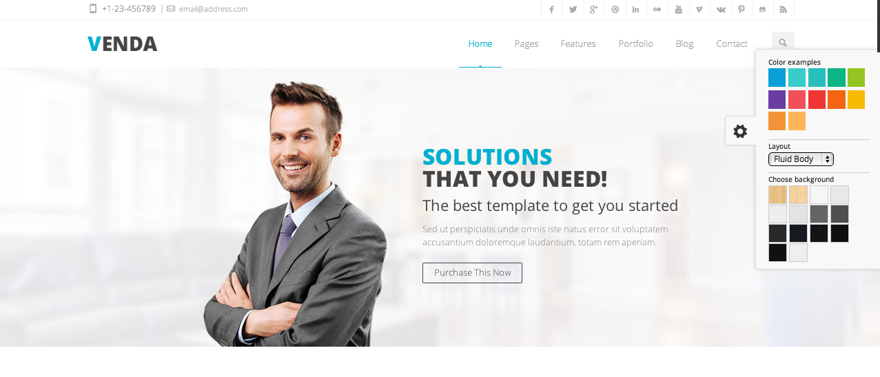 Venda WordPress paid theme