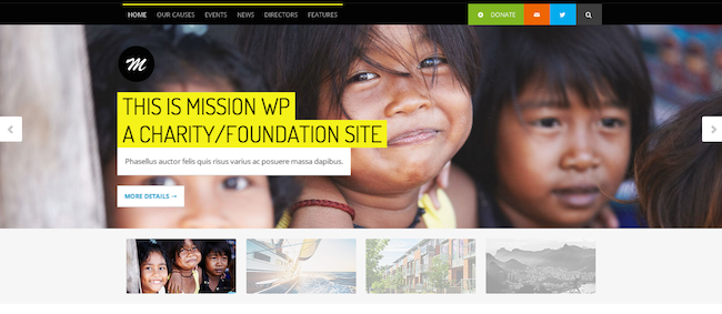 Mission WordPress paid theme