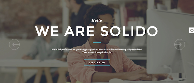 Solido WordPress paid theme