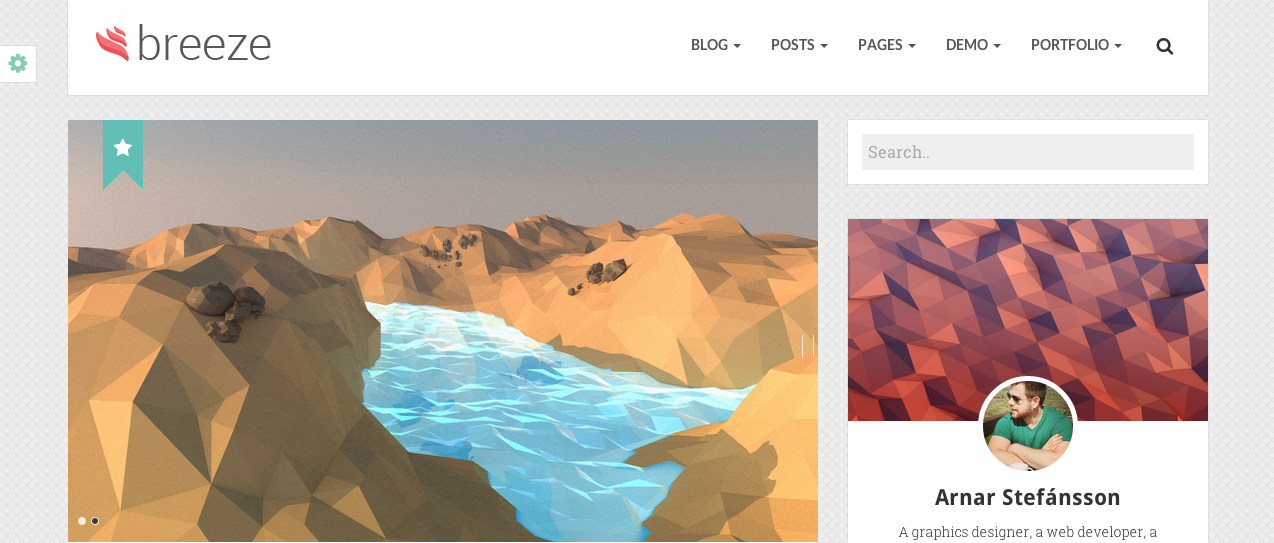Breeze WP theme