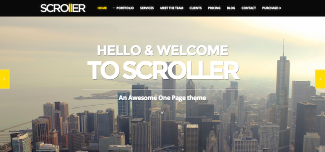 Scroller WP theme