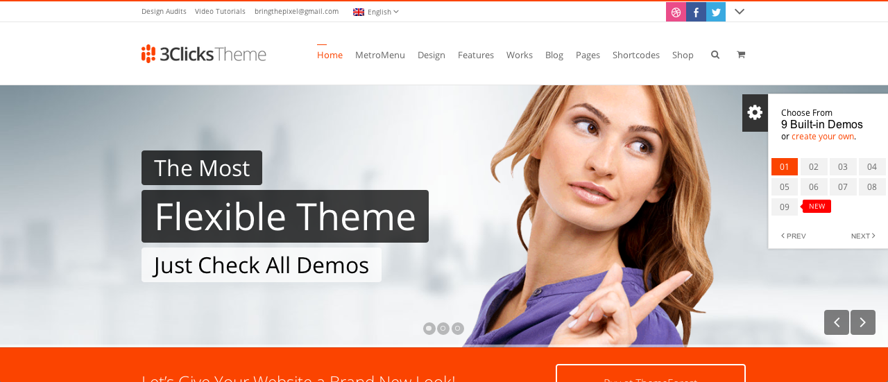 3Clicks WP theme