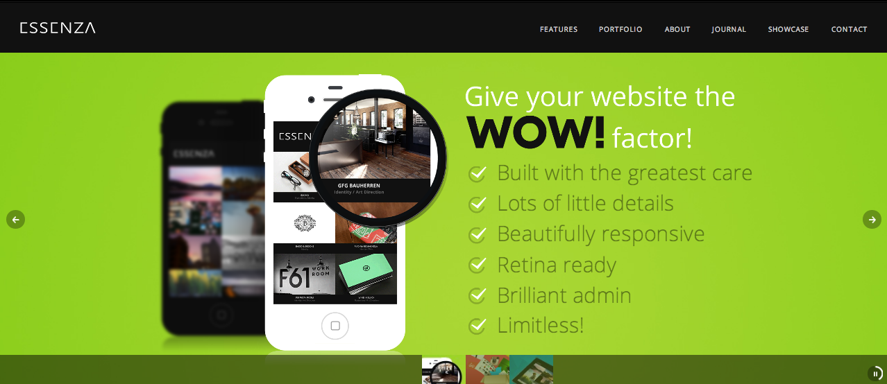 Essenza WP theme