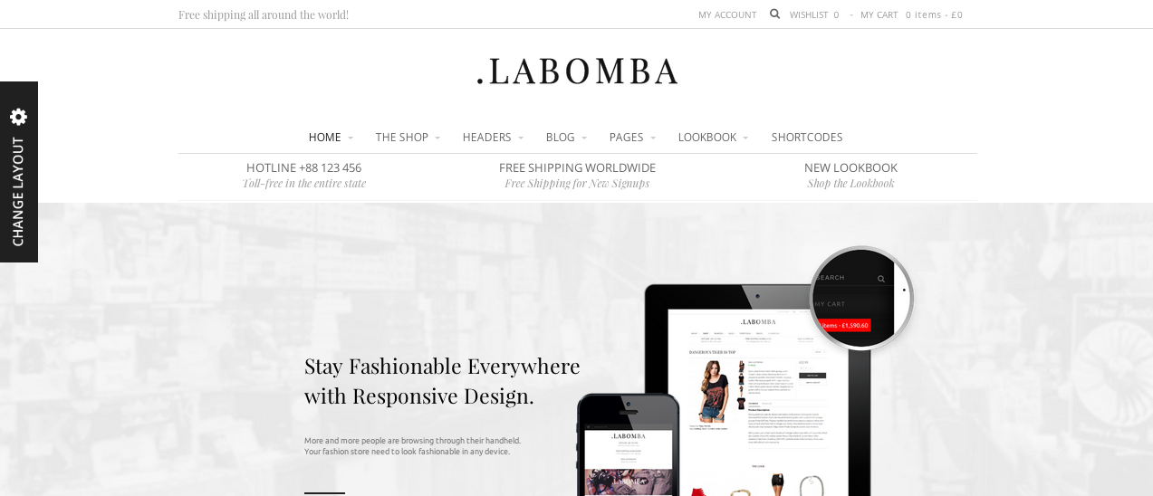 Labomba WP template