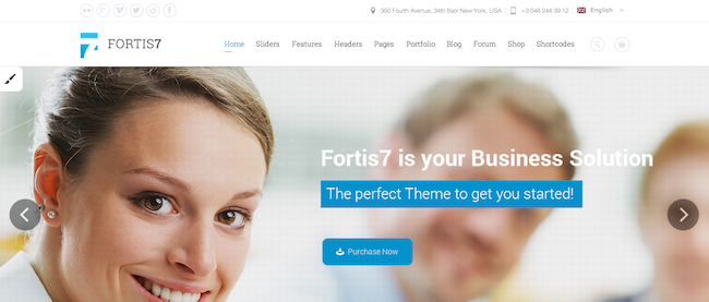fortis 7 wordpress theme 109 Beautiful Premium Responsive Wordpress Themes