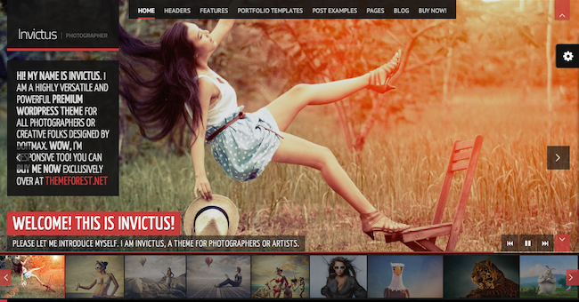 invictus wordpress theme 109 Beautiful Premium Responsive Wordpress Themes