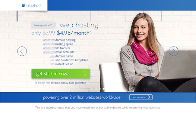 bluehost web hosting How to Build a Website using Wordpress, Wix or Shopify