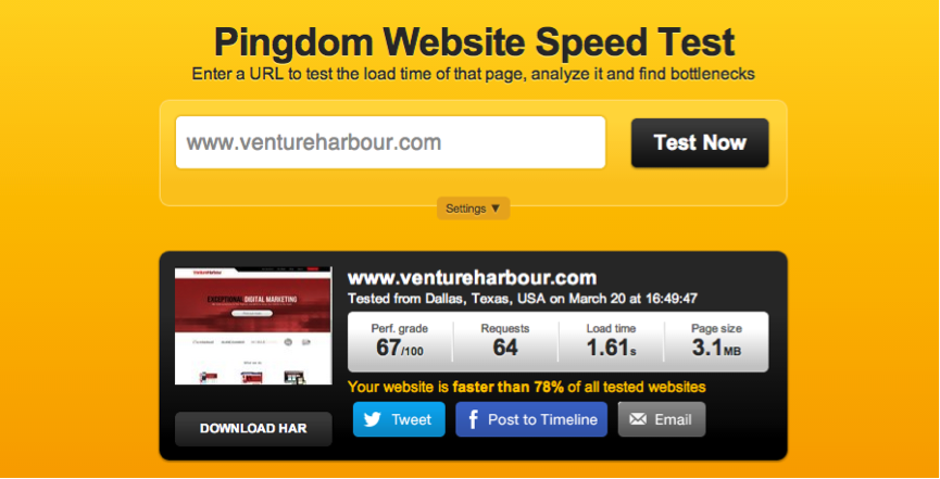 page speed before How to Improve Your Page Load Speed by 70.39% in 45 Minutes