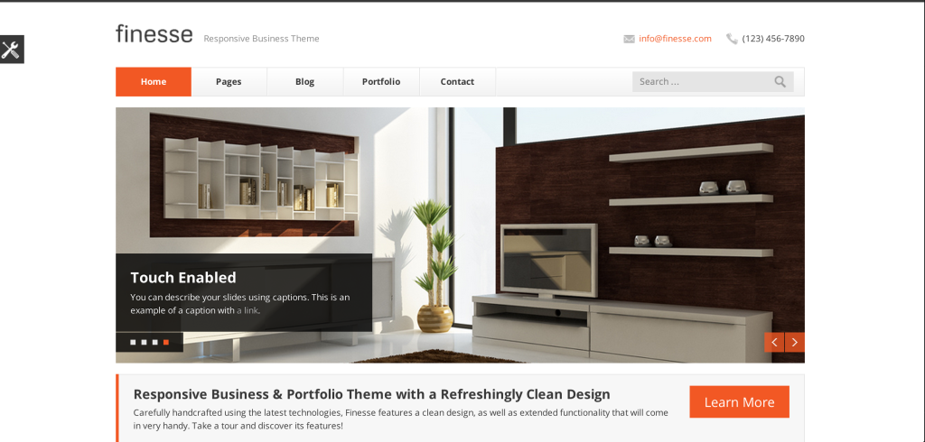Finesse Drupal Theme