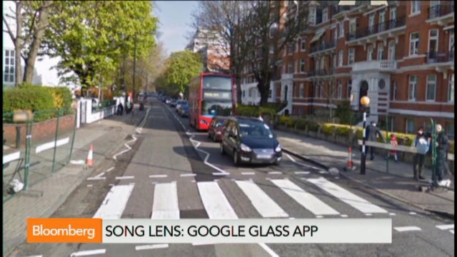 Google Glass song lens