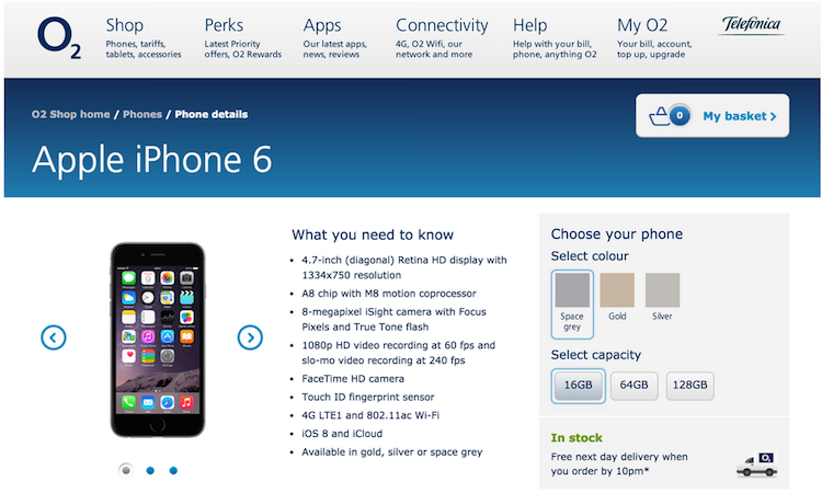 O2 product page