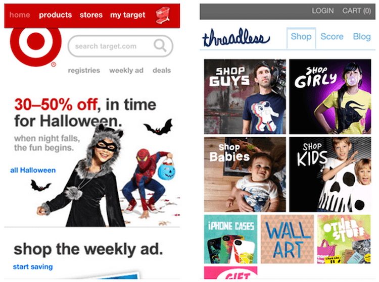 Target mobile commerce
