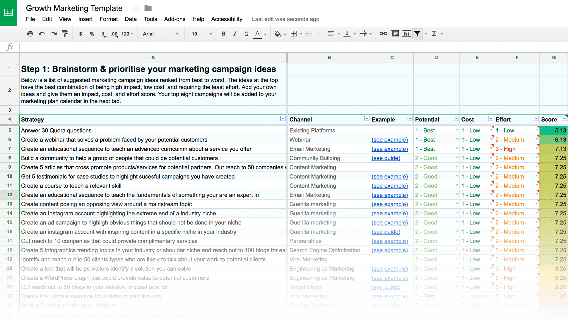 Free Digital Marketing Plan Template Generator - by Venture Harbour
